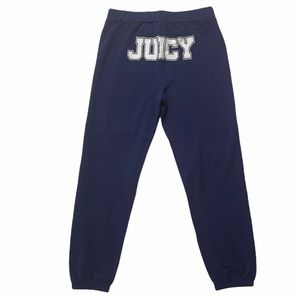 Juicy Couture |  Blue Oversized Logo Track pants